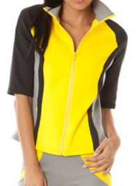 Women's Goddiva Colour Block Track Top (J1828A Yellow) x3 (Option 2): £3.95